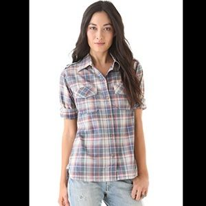 Current/Elliott The Perfect Shirt in Canyon plaid